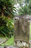 St Peter Kapellen-Friedhof, St George, Bermuda Lizenzfreie Stockfotografie