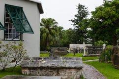 St Peter Kapellenfriedhof in St George, Bermuda Lizenzfreies Stockbild