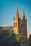 St Peter Kathedrale von Adelaide bei Sonnenuntergang Stockfoto