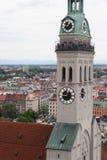 St Peter kerk in München, Duitsland Royalty-vrije Stock Foto's