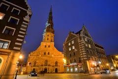 St Peter Kerk in Riga, Letland Royalty-vrije Stock Foto's