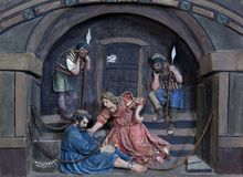 St Peter in kettingen stock afbeeldingen