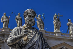 St. Peter with keys in the hand Royalty Free Stock Image