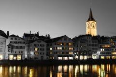 St Peter Kościelny Zurich częsciowo barwiący Zdjęcie Royalty Free