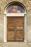 St Peter kościelny portal, Agliate Zdjęcia Royalty Free