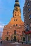 St Peter kościół w Starym miasteczku Ryski Zdjęcia Stock