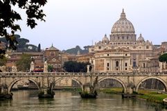 St.Peter koepel Vatikaan Rome Stock Afbeelding