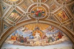 St Peter kupol i Rome Arkivbild