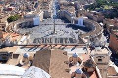 Piazza San Pietro från taklägga, Rome, Italien Arkivbilder