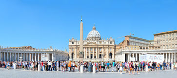 St Peter kvadrerar, Vatican Royaltyfria Bilder