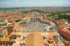 St Peter kwadrat w Rzym Fotografia Stock