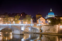 St peter at night, rome Stock Photos
