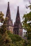 St Peter och Paul Cathedral, Vysehrad, Prague Arkivfoto