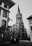 St Peter och Paul Church, Bern Switzerland Royaltyfria Foton