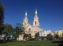 St Peter och paul kyrka San Francisco Arkivbilder