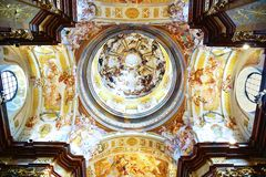 St. Peter och Paul kyrktar i den Melk abbeyen Arkivbilder
