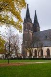 St Peter och St Pauls Church Prague Arkivfoto