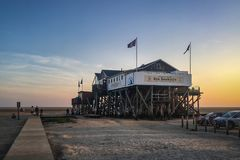 Restaurant Seekiste, St. Peter-Ording, Germany Royalty Free Stock Images