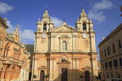 St. Peter & Paul Cathedral in Mdina. Stock Photography