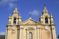St. Peter & Paul Cathedral in Mdina. Stock Photo