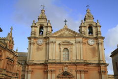 St. Peter & Paul Cathedral at Mdina. Royalty Free Stock Images