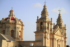 St. Peter & Paul Cathedral in Mdina. Royalty Free Stock Image