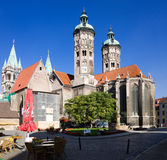 St. Peter and Paul Cathedral in Naumburg city, Saxony-Anhalt, Germany. The Naumburger Cathedral of St. Peter and St. Paul is the main architectural landmark of stock photo