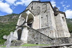St Peter and Paul church in Biasca, Switzerland Stock Images