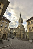 St. Peter and Paul Church from Unesco old city of  Bern. Switzerland. Royalty Free Stock Photography