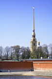 St.Peter and Paul Fortress. In St.Petersburg, Russia stock photography