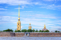 St Peter and Paul fortress and the Neva river, St Petersburg Russia Royalty Free Stock Photo