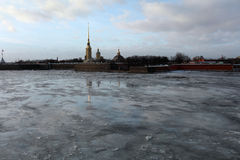St. Peter and Paul fortress in St. Petersburg, Russia Royalty Free Stock Images