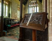 St Peter and St Paul`s Church - Lectern Stock Image