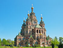 St. Peter and Paul's church in Peterhof Stock Images