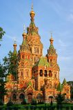 St. Peter and Pauls cathedral in Peterhof, Russia Royalty Free Stock Photo