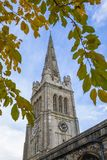 St. Peter and St. Pauls Church in Kettering UK. A view of the magnificent St. Peter and St. Pauls Church in the town of Kettering in Northamptonshire, UK royalty free stock photography