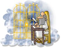 St Peter at the Pearly Gates Stock Photos