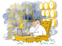 St. Peter at the Pearly Gates Royalty Free Stock Photo