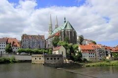 St Peter Pfarrkirche w Görlitz i Paul zdjęcia royalty free