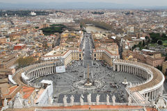 St.Peter place in Rome Stock Photo