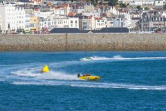 Speed boats racing Royalty Free Stock Image