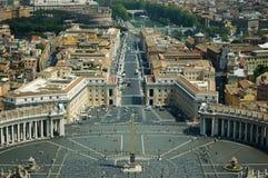 St Peter Quadrat, Vatikan stockbilder