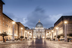 St Peter Rome. St. Peter Basilica in the Vatican of Rome, Italy Royalty Free Stock Images