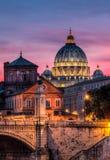 St Peter Rome de la basílica Imagen de archivo libre de regalías