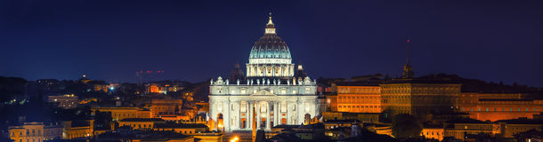 St Peter Rome Night royalty free stock images