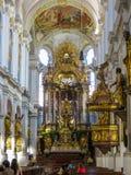 St Peter ` s - Barokowy Główny Ołtarzowy wnętrze Fotografia Royalty Free