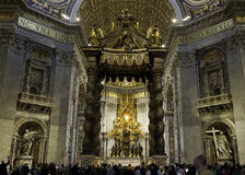 St- Peter` s Basiiica Innenraum stockfoto
