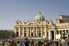 St Peter`s basilica Stock Photo