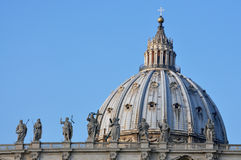 St. Peter's Basilica. Architectural detail of St. Peter's Basilica, Vatican City Royalty Free Stock Photo