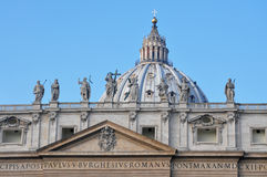 St. Peter's Basilica. Architectural detail of St. Peter's Basilica, Vatican City Stock Photo